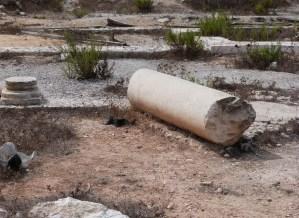 Broken column from Kathisma church (Seetheholyland.net)