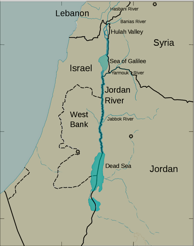 Jordan River See The Holy Land - World map jordan river