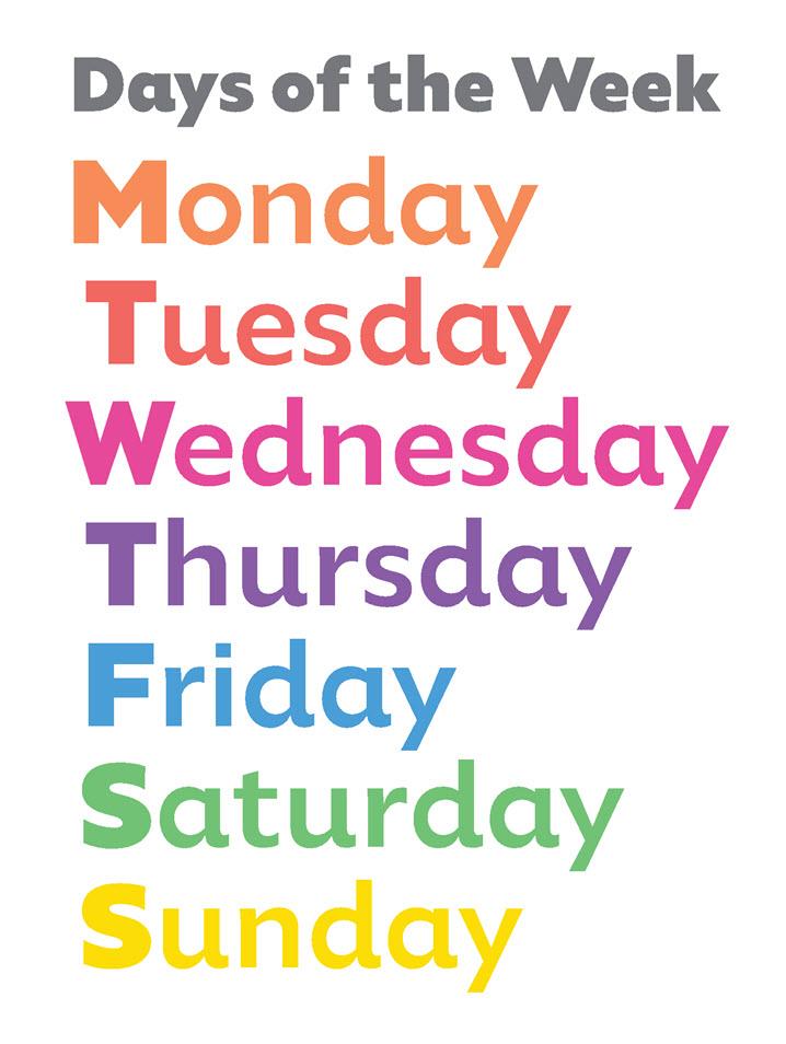 Days Week Art Clip Sunday