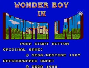 Wonder Boy in Monster Land - Title