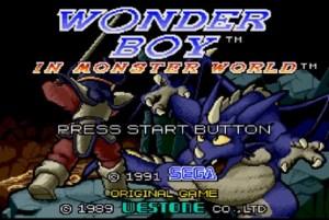 Monster World III - Title Screen