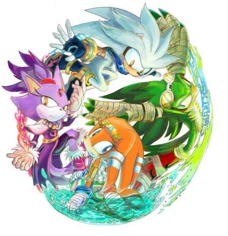 Jet, Blaze, Silver, & Tikal by Ganache