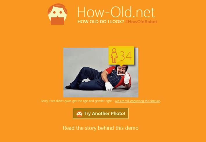 MS Age: 34. Actual Age:  It'sa me, Mario
