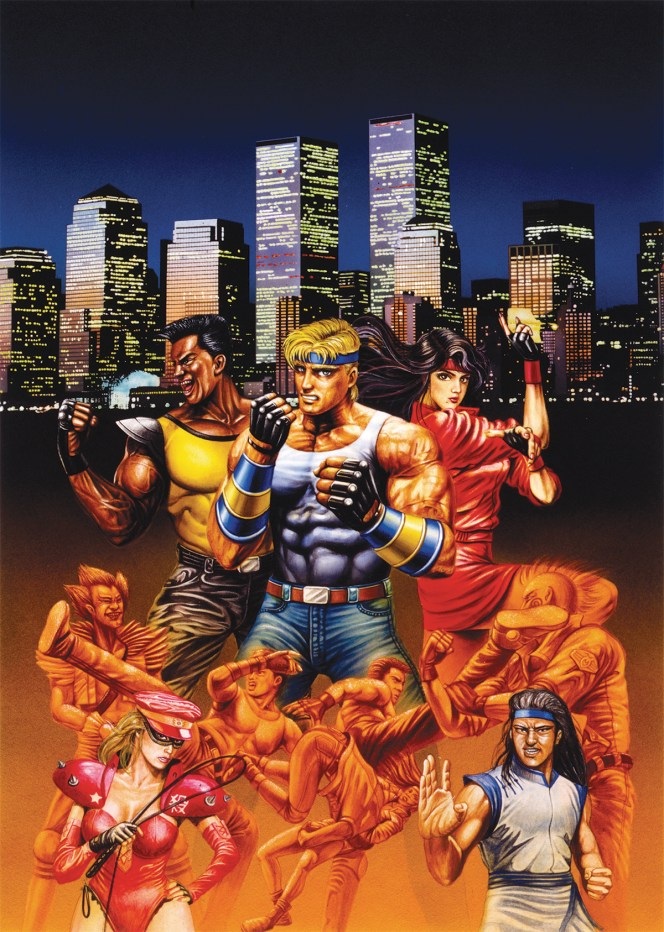 Streets of Rage - Japanese Key Art