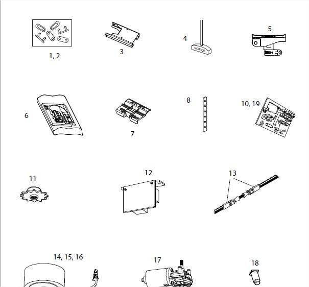 Segedip Com Toutes Les Pieces Detachees Avec Schema Eclate Du Produit Liftmaster Lm600 Lm800 Lm1000 Moteur De Porte De Garage