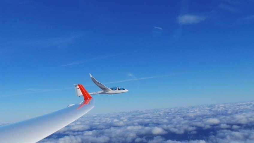 Wellensegelflug über dem Werra-Meißner Land zu Jahresende