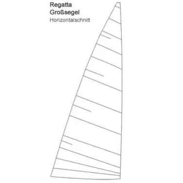 20m² Jollenkreuzer Großsegel horizontal Produktbild