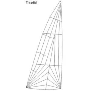 Produktbild H-Jolle Regatta-Großsegel triradial