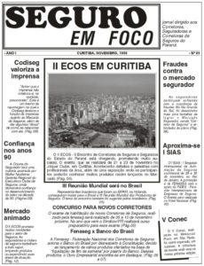 Seguros em Foco -  Capa Edição nº 01 - SegFoco