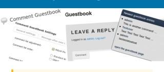 un nuovo plug-in per i commenti comment guestbook