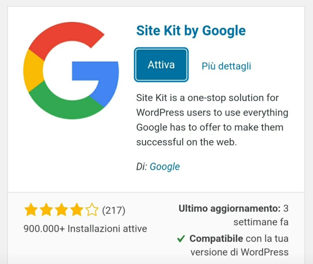 Site kit by google plugin