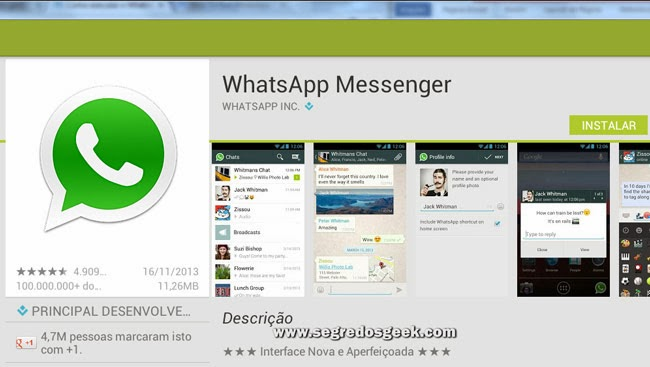 Imagem: Instale o WhatsApp no Windows.