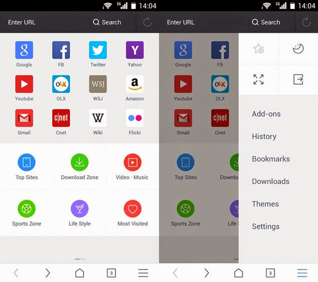 UC Browser 10.0 para Android