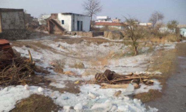 Sconvolgente grandinata nel sud dell'India