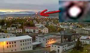Palla di fuoco scende nei cieli dell'Islanda