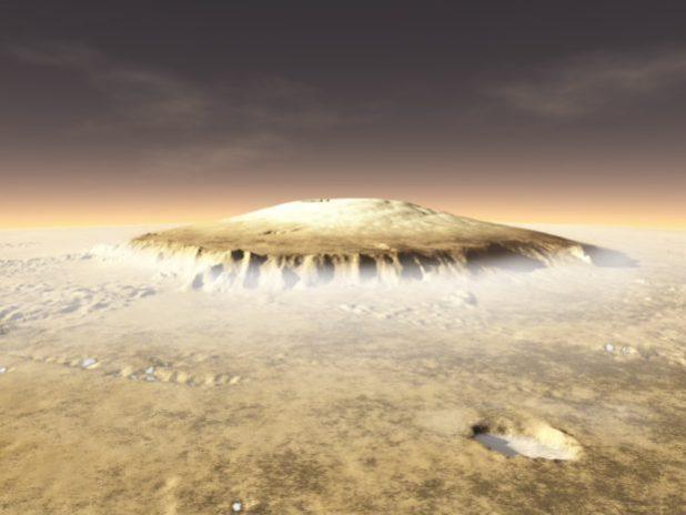 Scoperti antichi supervulcani su Marte