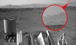 Curiosity fotografa un Ufo?