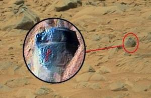 Petroglifo immortalato su Marte