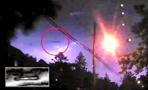 Ufo sigariforme ripreso in California