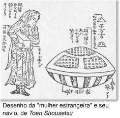 La mujer que salió en OSNI del fondo del mar en Japón en 1803