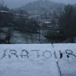 Segway Santa Pau Garrotxa in pieno svolgimento con la neve
