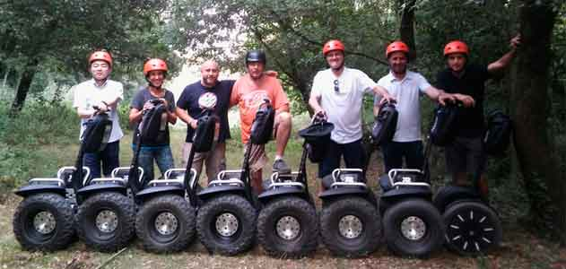 The company has a Spinreact Segway Tour at their meeting in Garrotxa