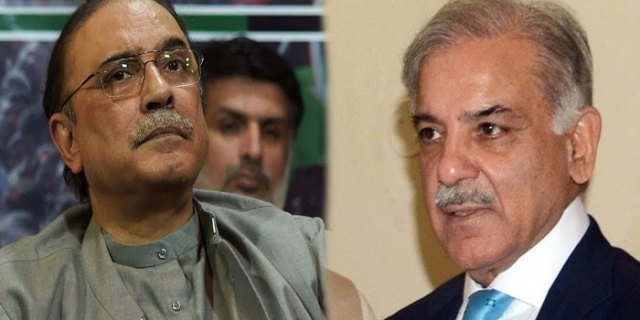 Meeting of Asif Ali Zardari and Shahbaz Sharif