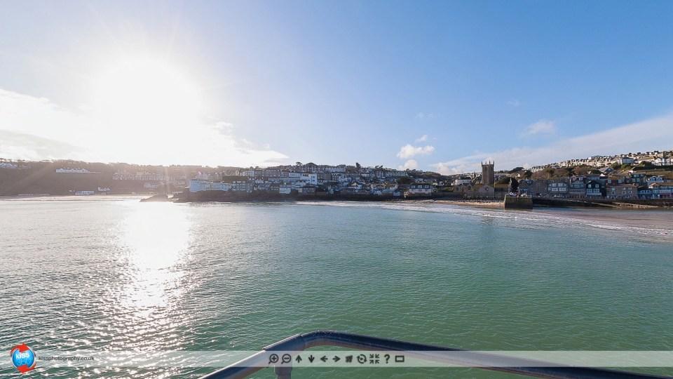 St Ives Beach 360-degree panoramic view screenshot