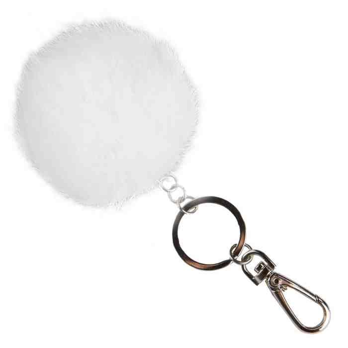 Fell Anhänger für Tasche oder Schlüssel - weiß