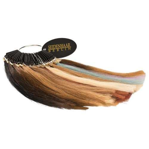 Farbring aus 100% Echthaar zur Farbbestimmung von Seidenhaar Berlin - Hochwertige Echthaar Haarverlängerungen in Remy-Qualität (Bild 2)