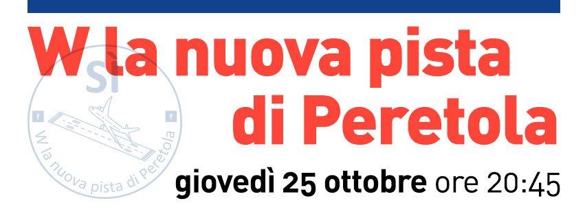 Ampliamento pista: evento 25 ottobre