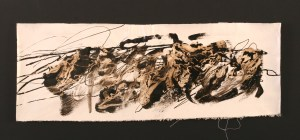 This small painting, Dances #10, is an Asphalt and Alkyd painting by Michael Seiler. These asphalt paintings by artist Michael Seiler are truly contemporary fine art at its best. They are moderately priced for the art collector and art museums. Interior designers have alternatives for artwork that are contemplative and exciting.