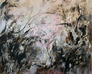 This Asphalt and Alkyd painting, Dances With Fire #5 by Michael Seiler is an excellent example of his Contemporary fine art which was part of several exhibitions in galleries and museums and may be seen at Seilers' Studio and Gallery in Zanesville, Ohio.