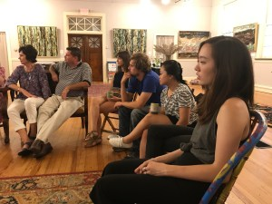 Zanesville Artist Residency Forum at Seilers' Studio on the properties of space lead by Shannon Kim and Hillary Hendricks and hosted by Michael Seiler