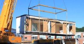 Construcciones prefabricadas para áreas de atención hospitalaria