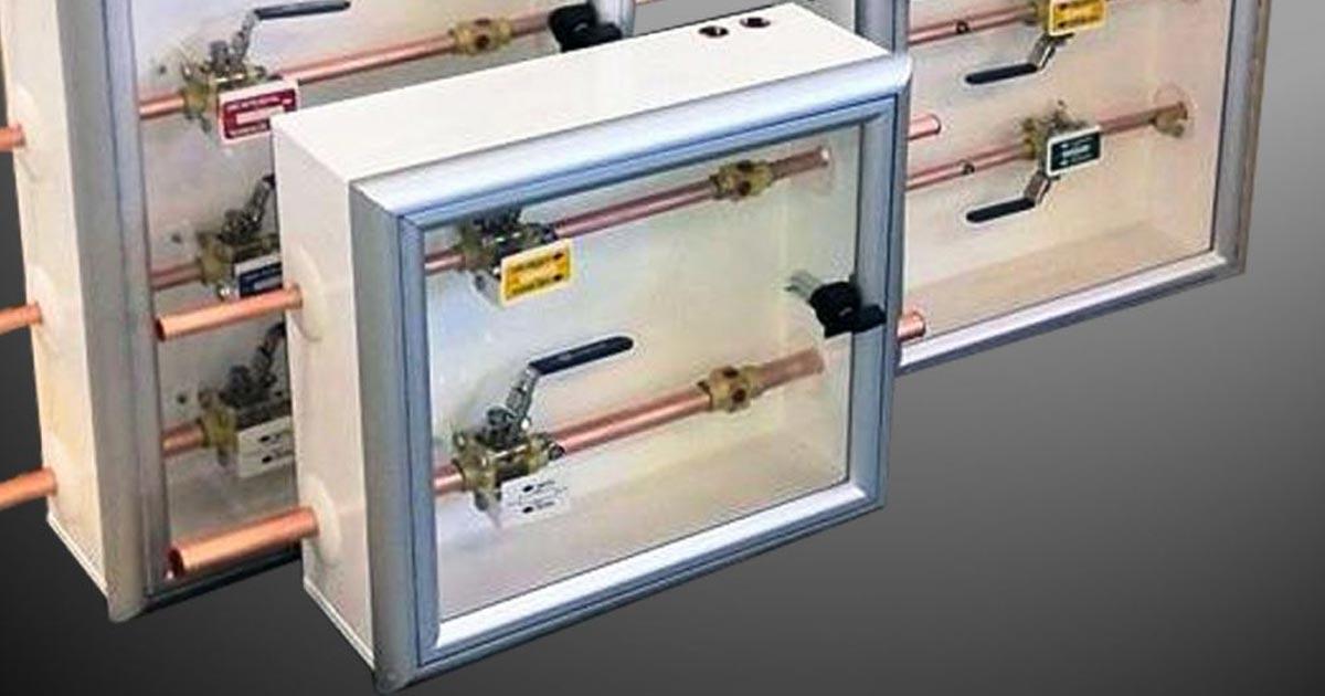 Función y uso de conectores, válvulas y cajas de sección