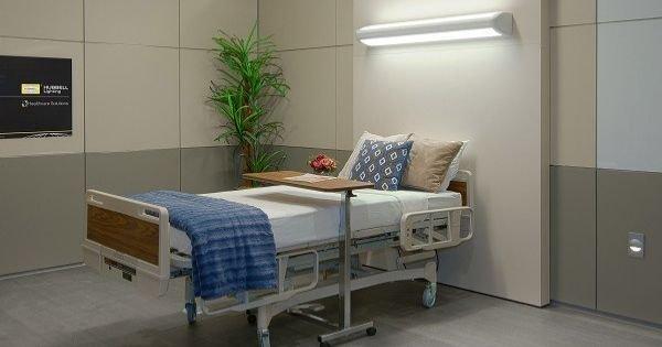 Módulo de iluminación adecuado en el cuarto de un paciente