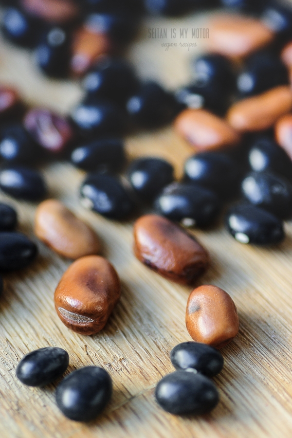 fava and black beans | seitanismymotor.com