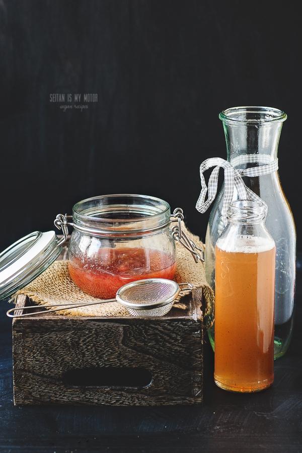 rhubarb syrup | seitanismymotor.com