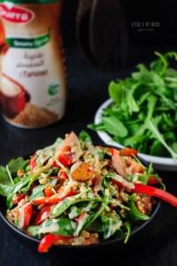 colourful oat salad | Vegan MoFo 2015