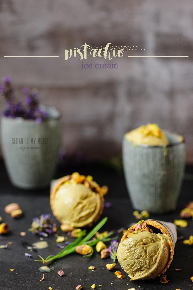 vegan pistachio ice cream (4 ingredients) #vegan #glutenfree #soyfree