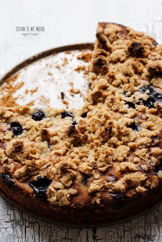 Blueberry Crumb Cake | www.seitanismymotor.com
