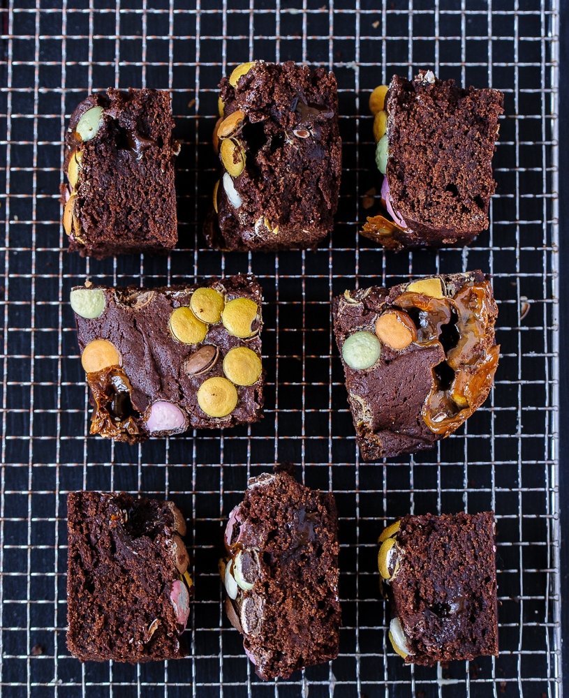 Vegan Toffee Brownies @seitanismymotor.com
