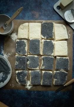 Tebirkes - Danish Poppy Seed Rolls made from Laminated Dough