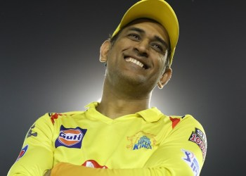 MS Dhoni (c) of Chennai Super Kings after the match 55 of the Vivo Indian Premier League Season 12, 2019 between the Kings XI Punjab and the Chennai Super Kings held at the IS Bindra Stadium, Mohali on the 5th May 2019  Photo by: Arjun Singh /SPORTZPICS for BCCI