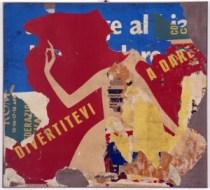 Rotella, Divertitevi a dare, 1959-60, décollage su tela