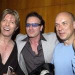 Bowie con Bono e Brian Eno