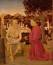 Piero della Francesca, San Girolamo e un devoto, 1440 - 1450 ca, Gallerie dell'Accademia, Venezia