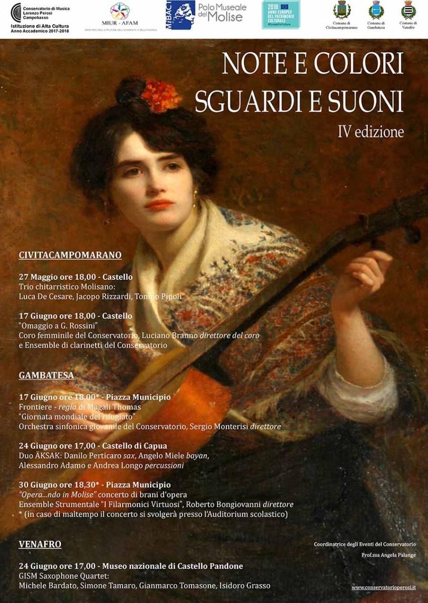 """""""Note e Colori - Sguardi e Suoni"""", torna il progetto artistico del Polo museale del Molise"""