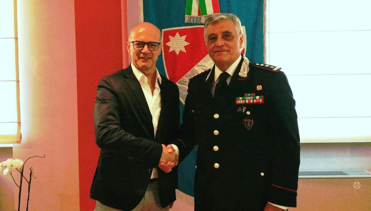 Il Comandante Interregionale dei Carabinieri in visita a Palazzo Vitale